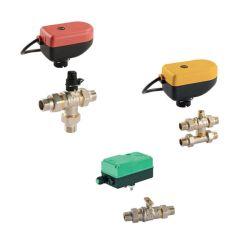 Les robinets à tournant sphérique avec des éléments électriques conviennent aux systèmes à commande électronique